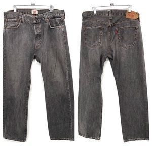 Levi's Original 501 Straight Leg Button Fly Jeans